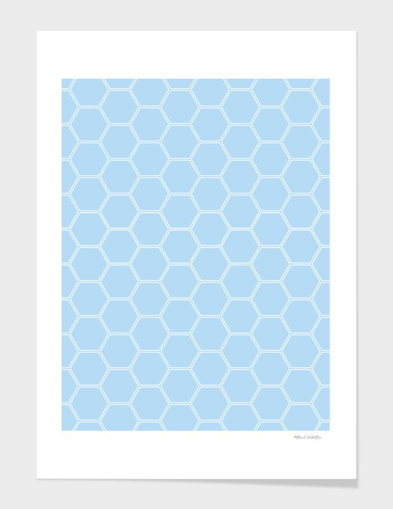 Geometric Honeycomb Pattern - Light Blue #304