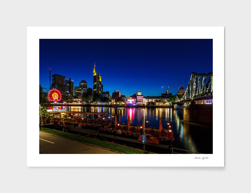 Frankfurt am Main - the capital of Germany at night