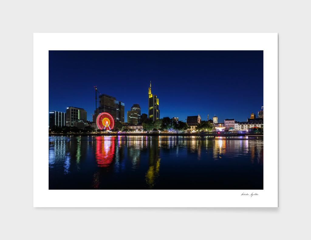 Frankfurt am Main - the capital of Germany at night