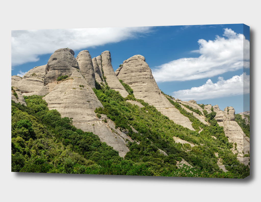Montserrat mountains in Catalonia