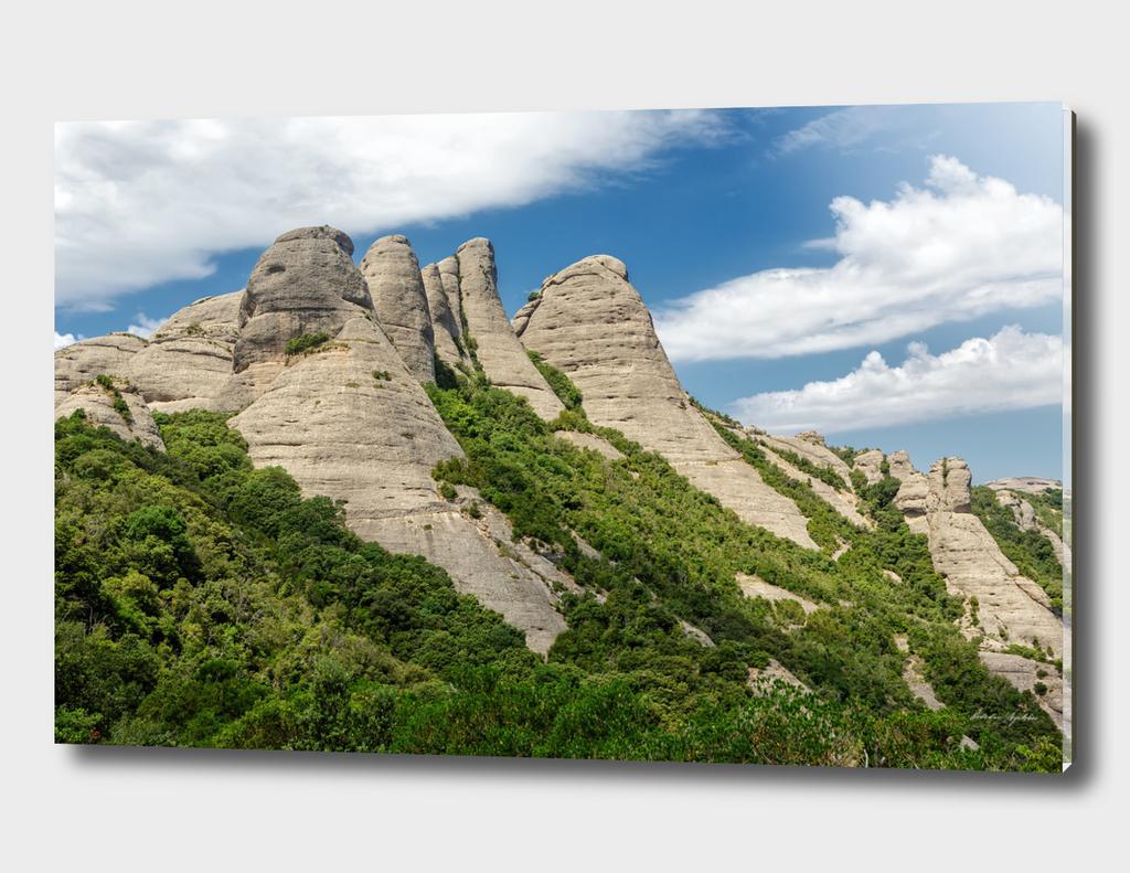 Montserrat mountains in Catalonia