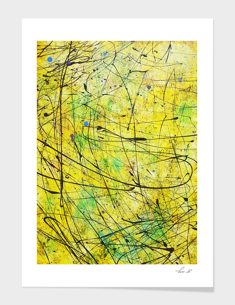 Abstract yellow 01