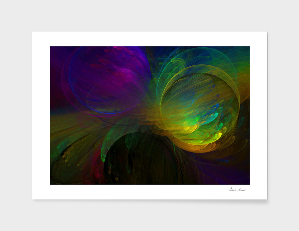 Blast of Color Abstract
