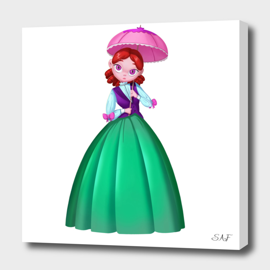 The Princess with a small umbrella