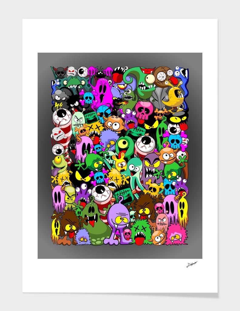 Monsters Doodles Characters Saga