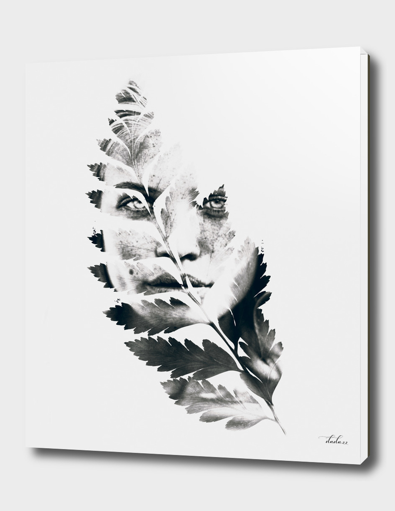 Portrait of woman(leaves)