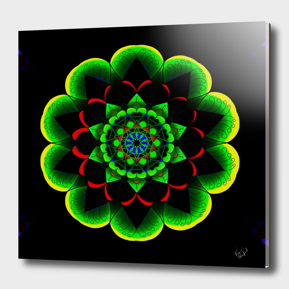 Neon lotus