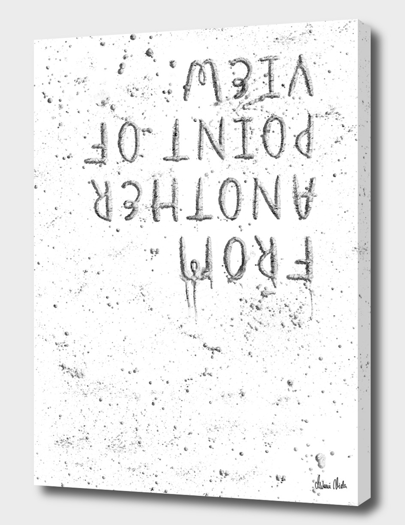 TEXT ART SILVER From another point of view   splashes