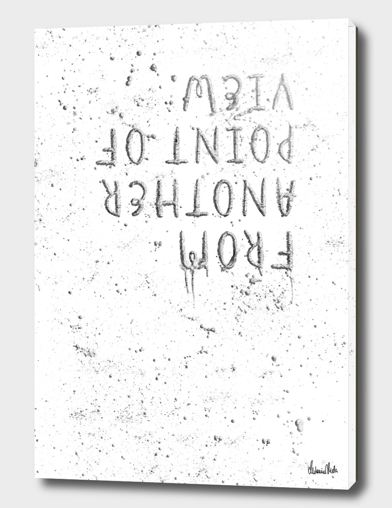 TEXT ART SILVER From another point of view | splashes