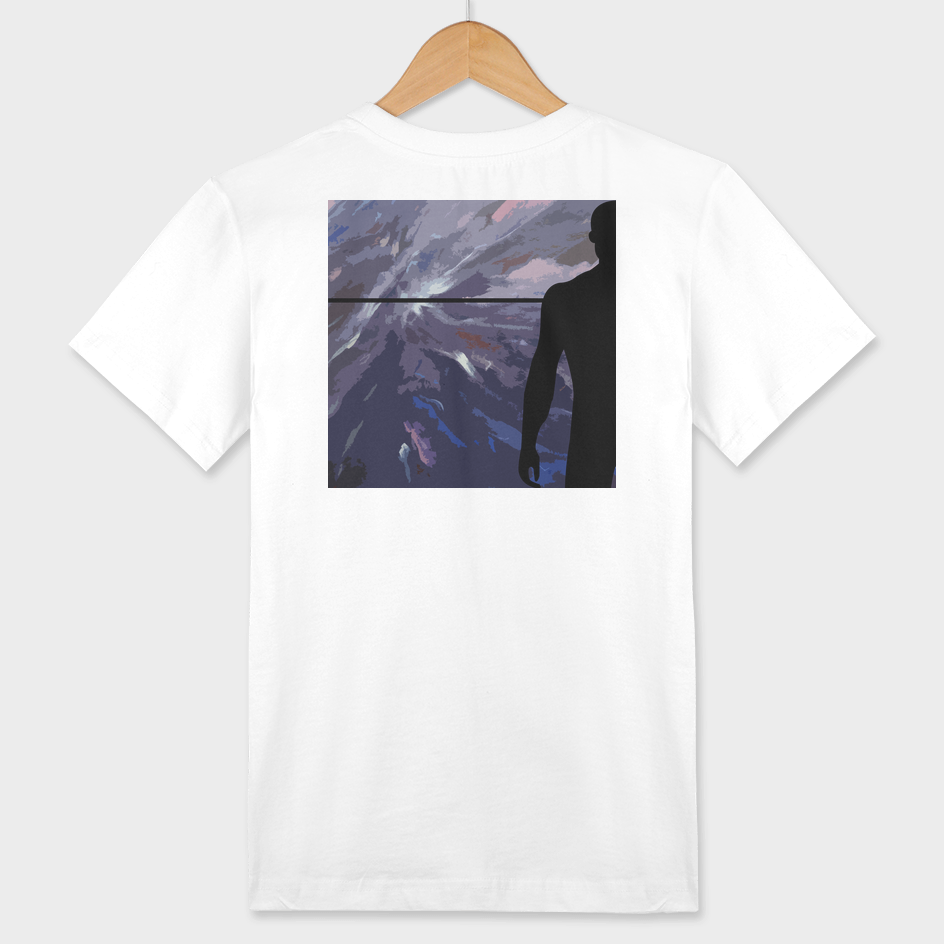 Horizon with black silhouette man