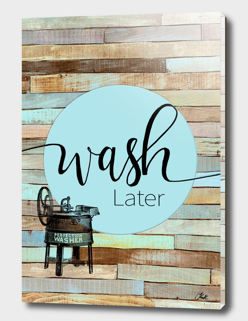 Laundry Wash Chic Rustic
