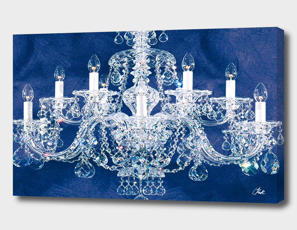 Grant Blue Chandelier