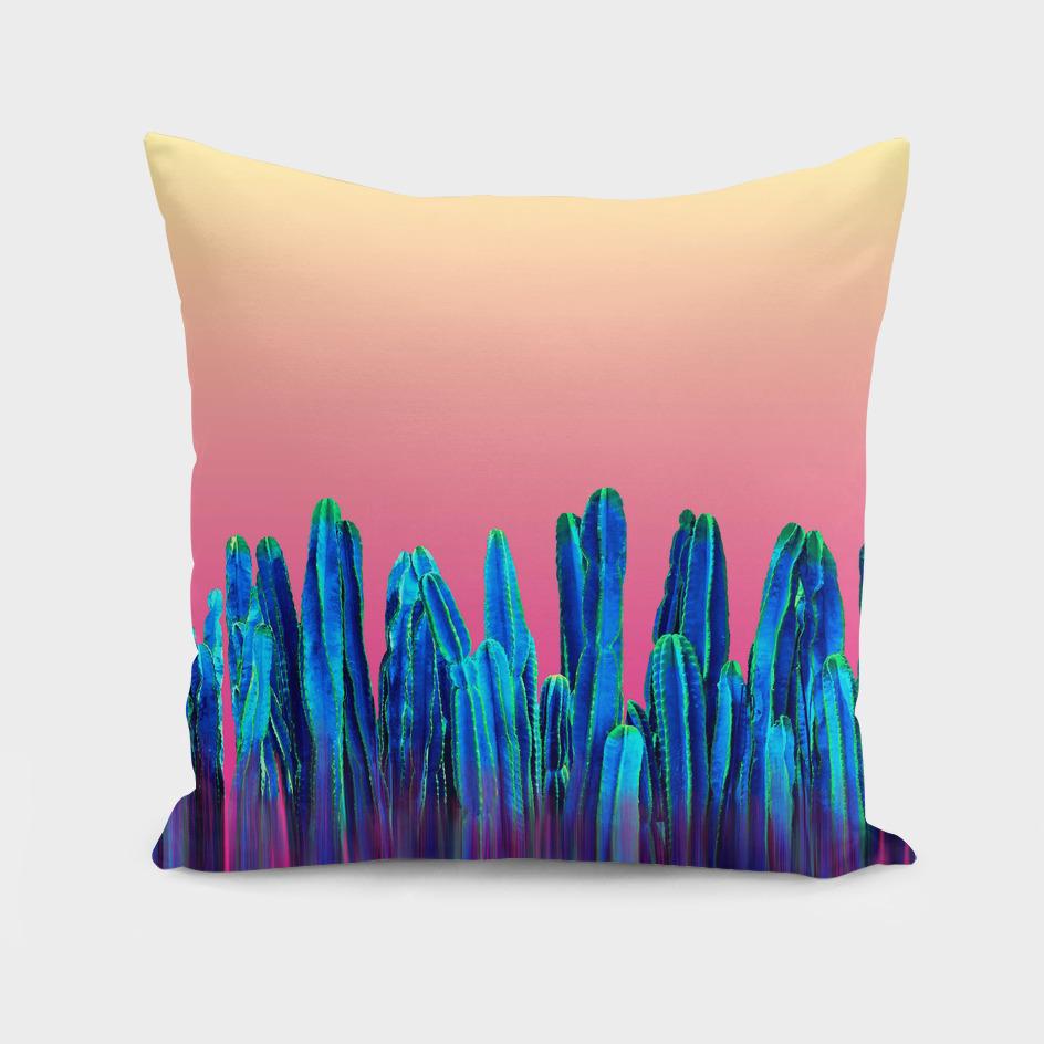 Candy Sunset Blue Cactus Glitch