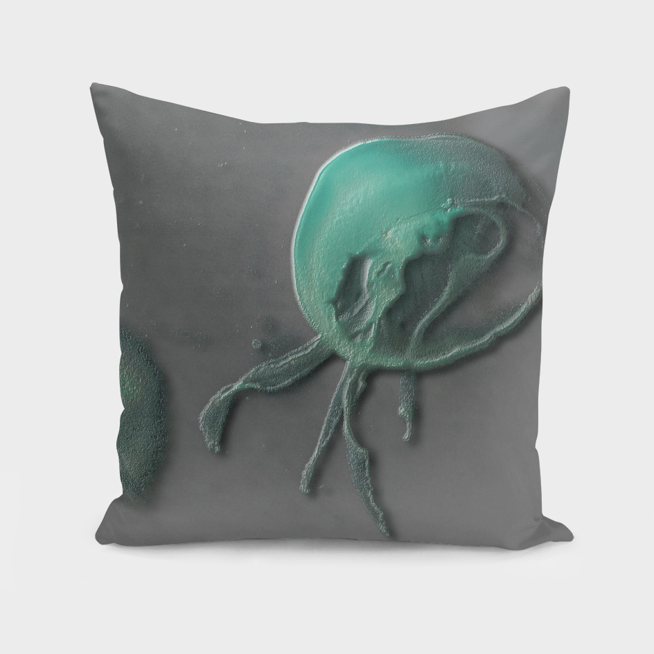Jellyfish on grey
