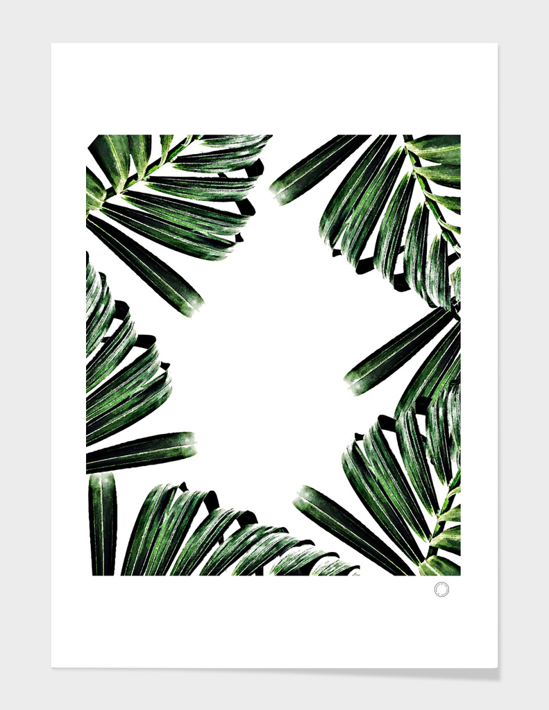 Palm Leaf Watercolor Pattern
