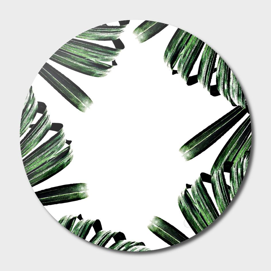 Palm Leaf Watercolor Pattern