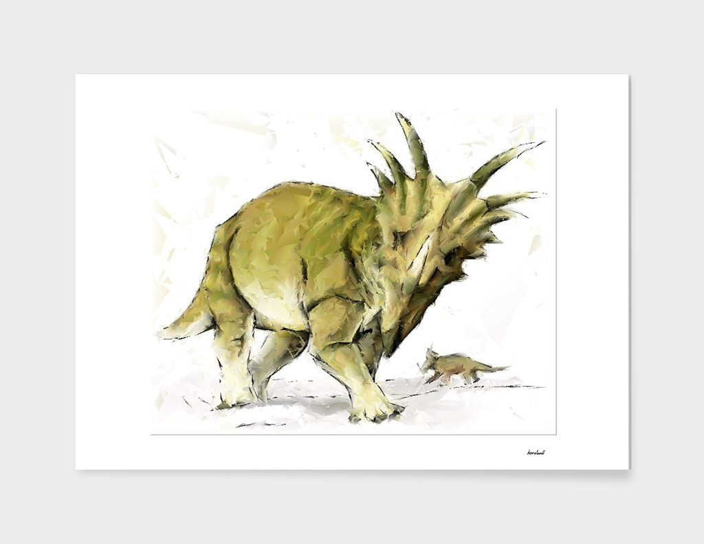 Abstract Styracosaurus Dinosaurs