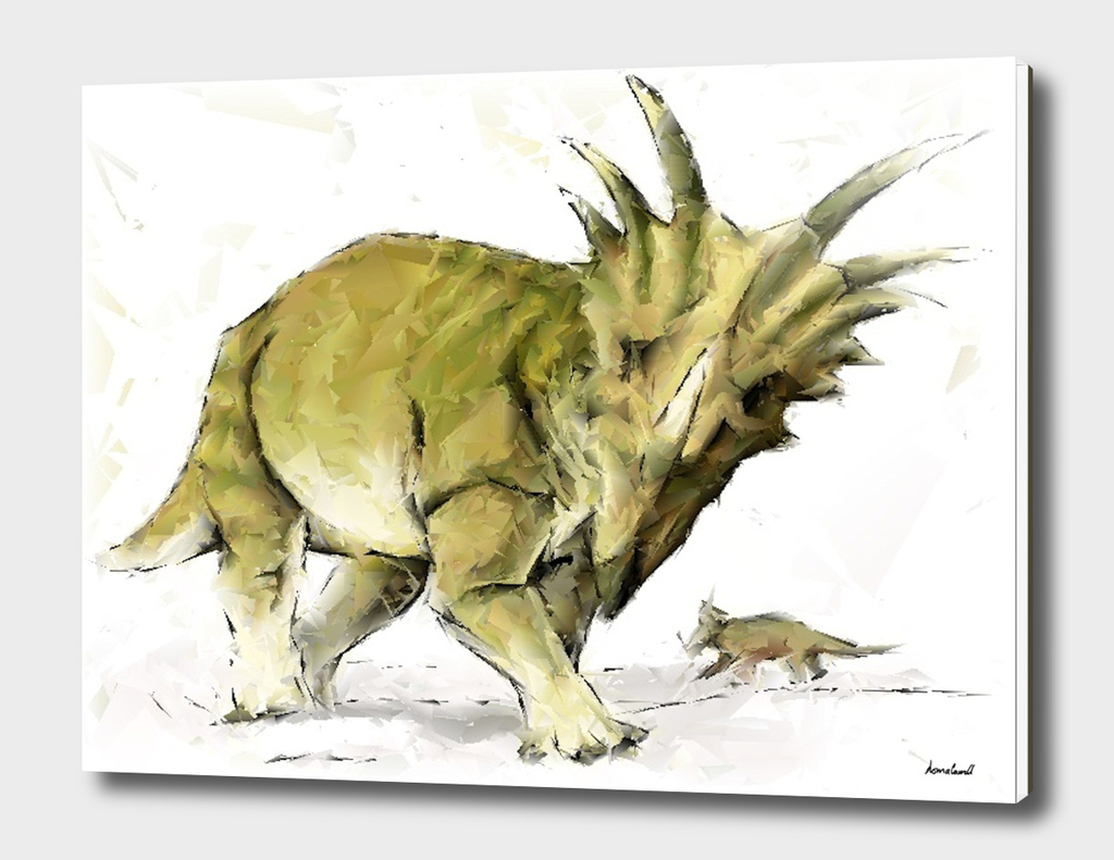 Abstract Styracosaurus Dinosaurs