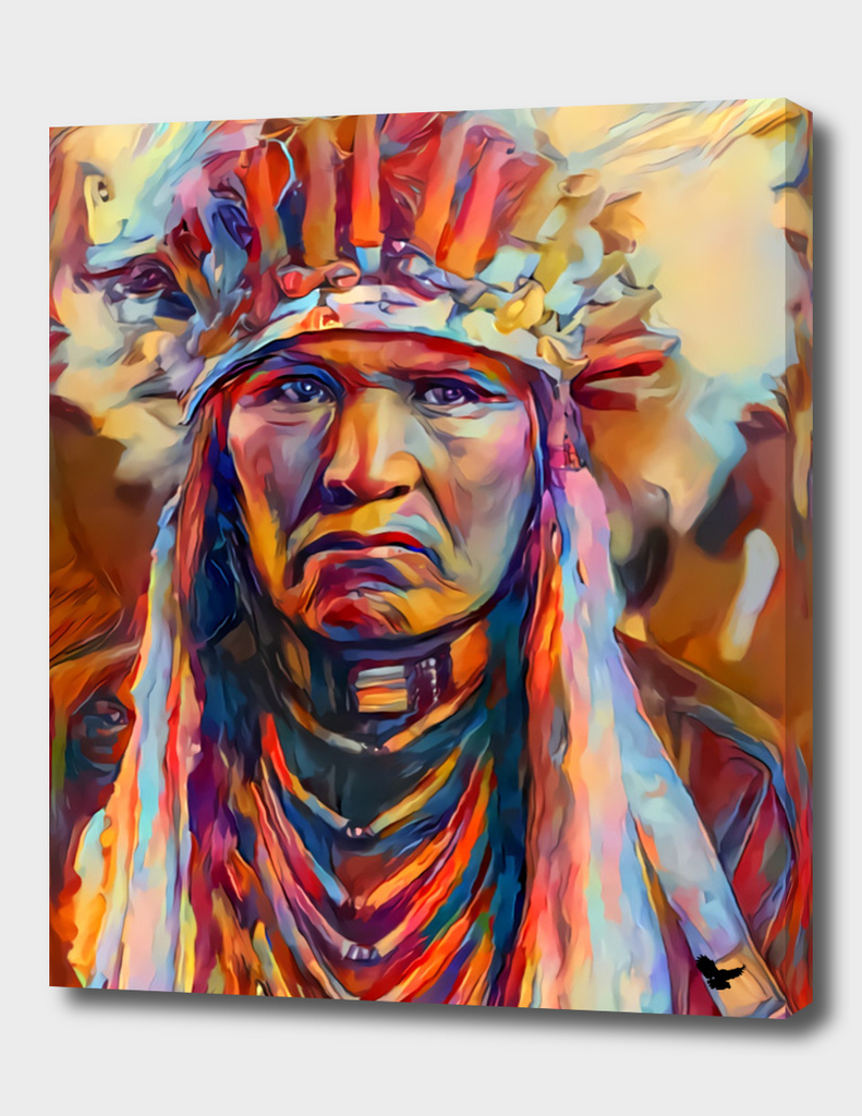 american indian brave face