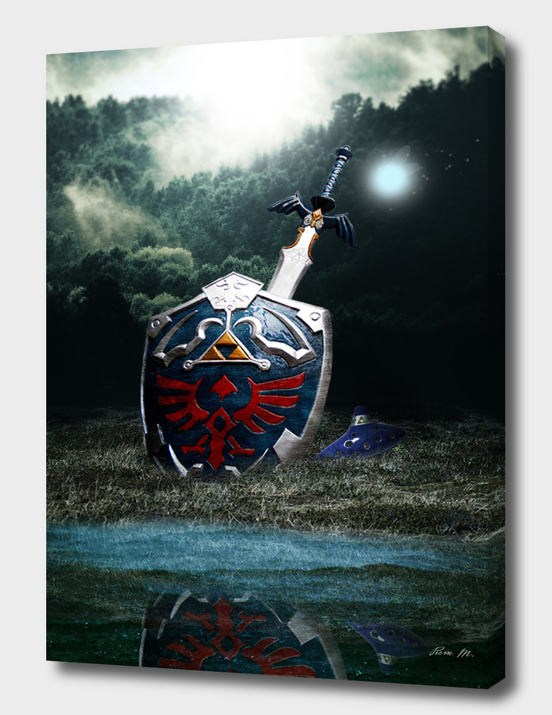 Hyrule Shield and Master Sword - Poster by ArtBasement