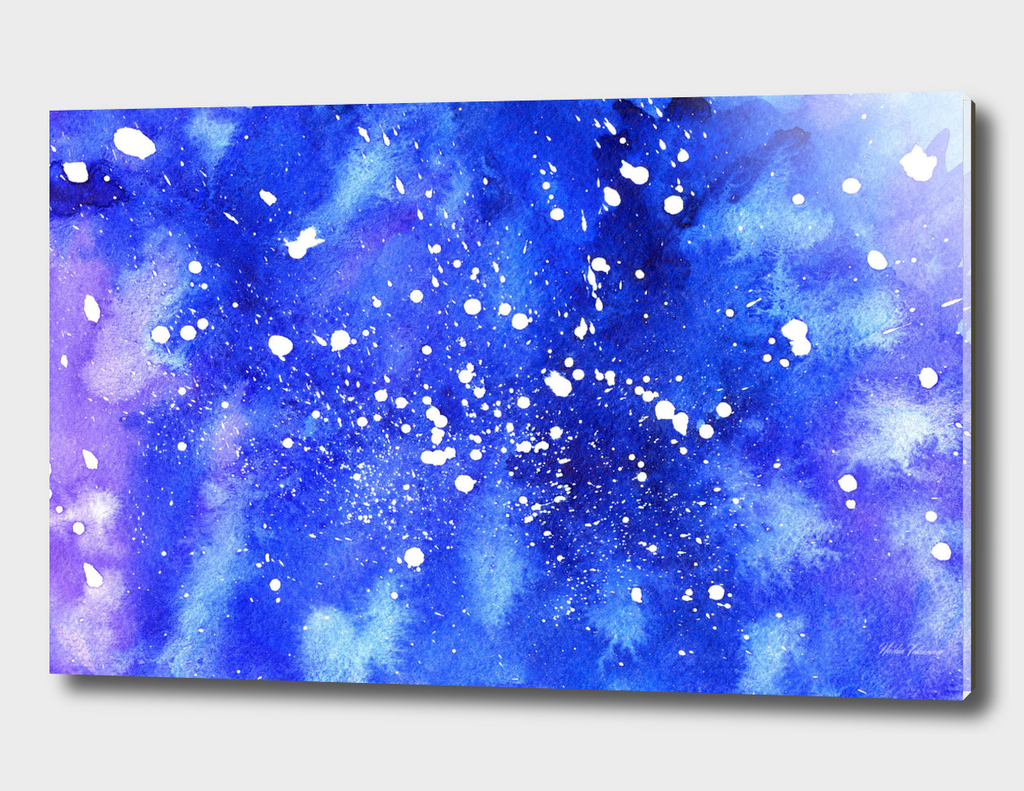 Watercolor Abstract Galaxy
