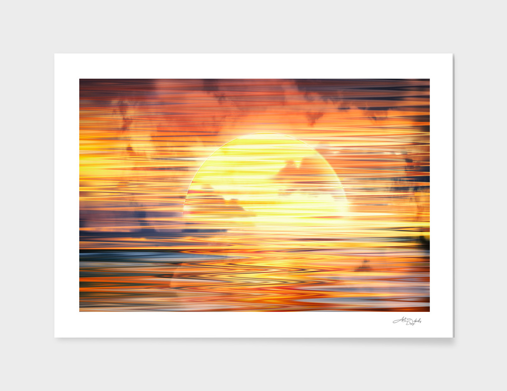Artistic XVI - Abstract Sunset / NE