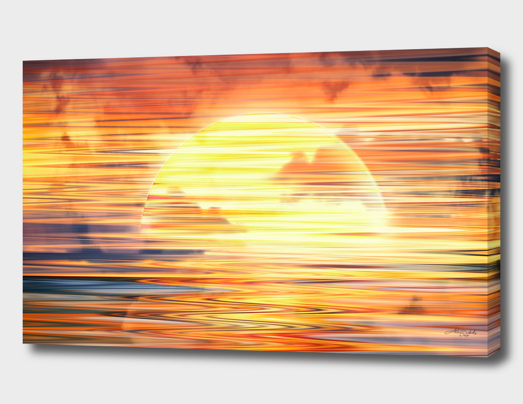 Artistic XVI - Abstract Sunset / NE