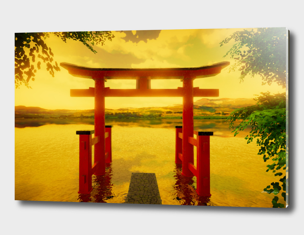 Torii with Warm Colors