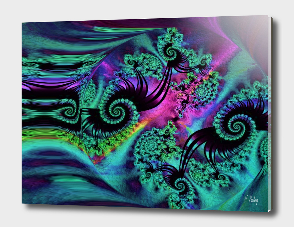 Purple Green and Blue Fractal