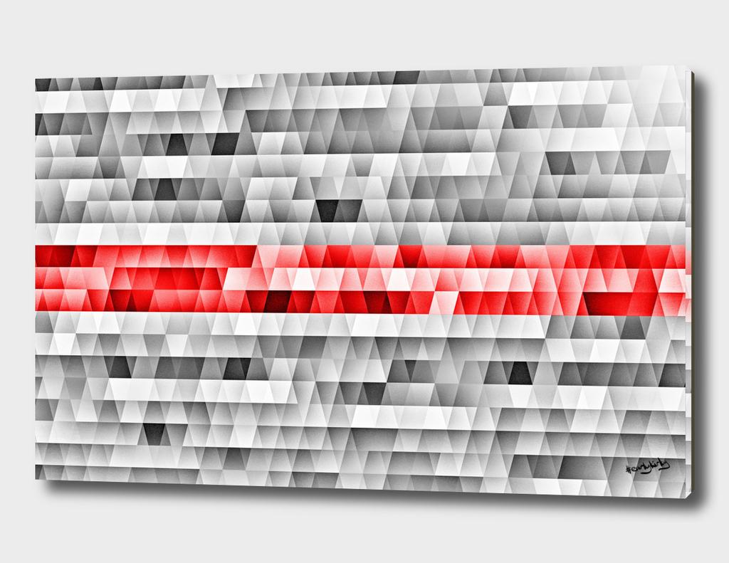 Geometric red stripe