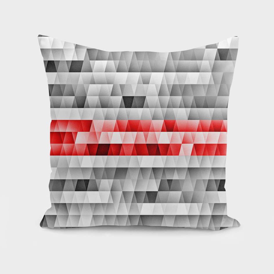 Geometric red stripe