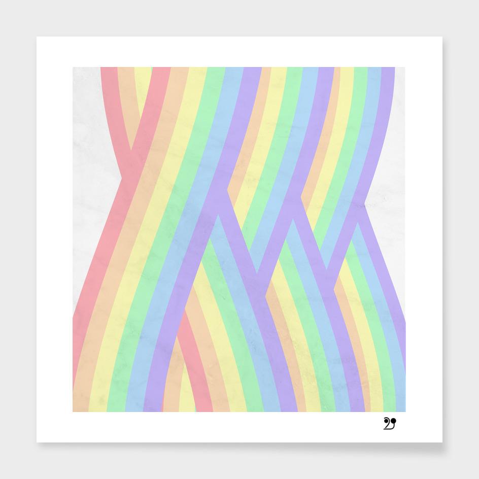 Rainbow geometric stripes