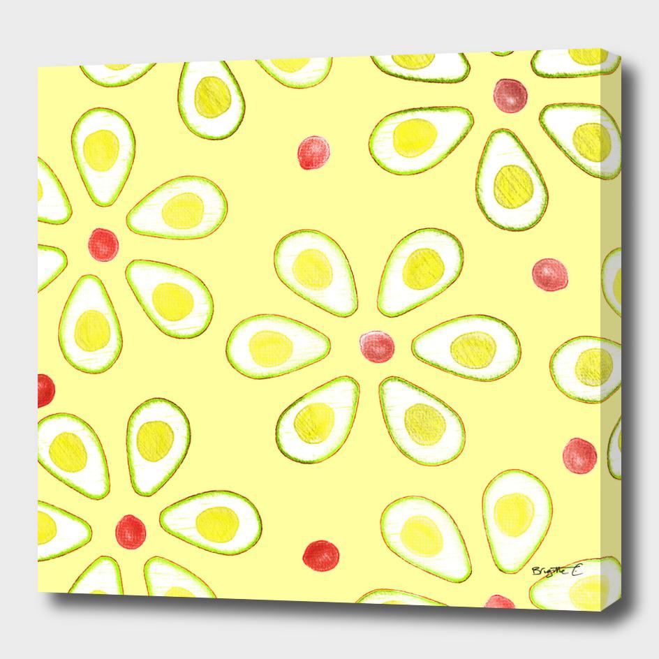 Avocado Sunny Party Pattern