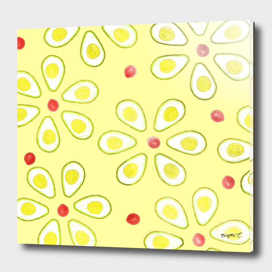 Avocado Sunny Party Pattern