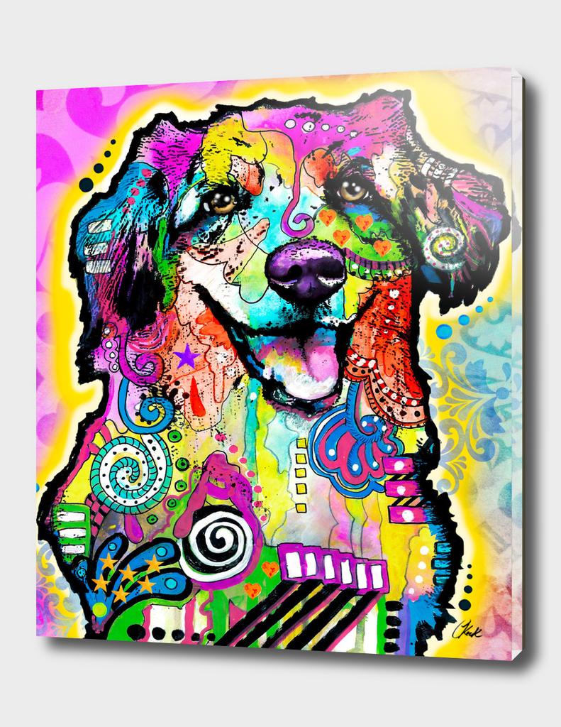 HAPPY ABBEY DOG