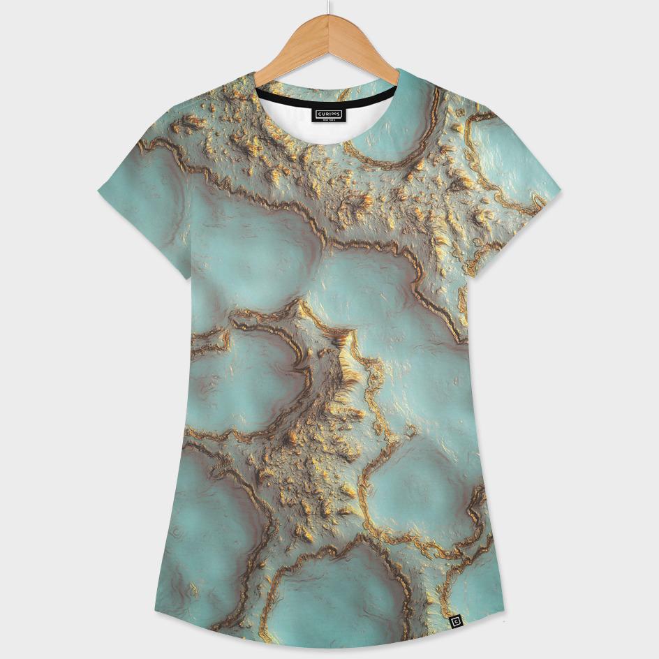 Aqua Coral Reef Abstract