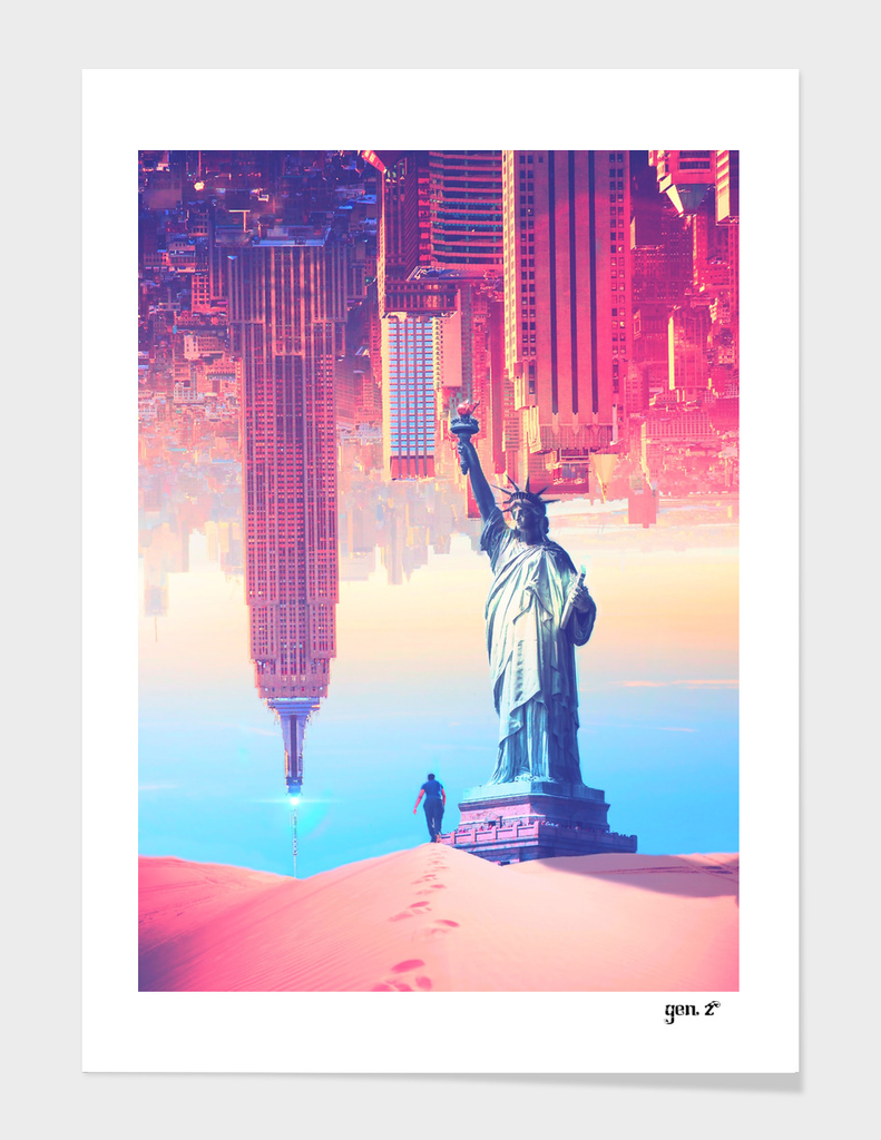Statue of Liberty in the desert by Gen Z