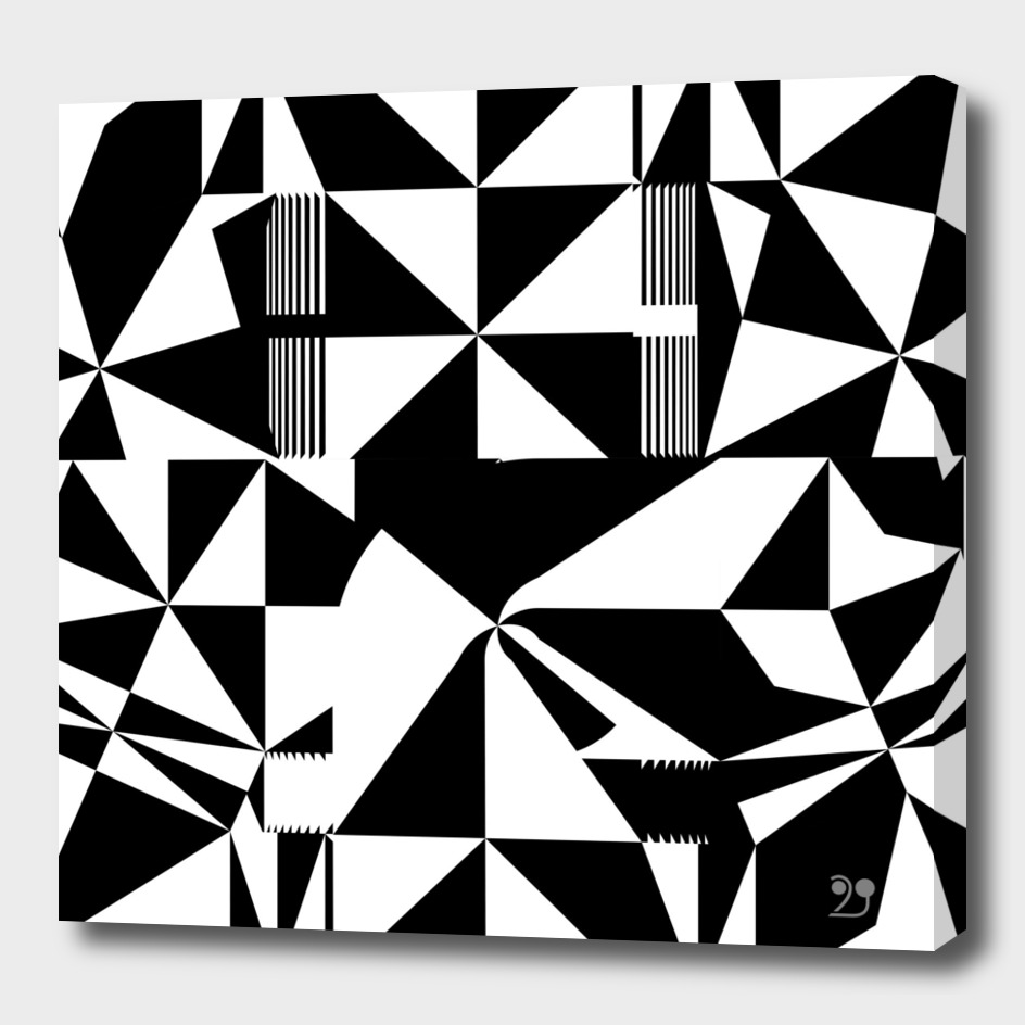 black white geometric