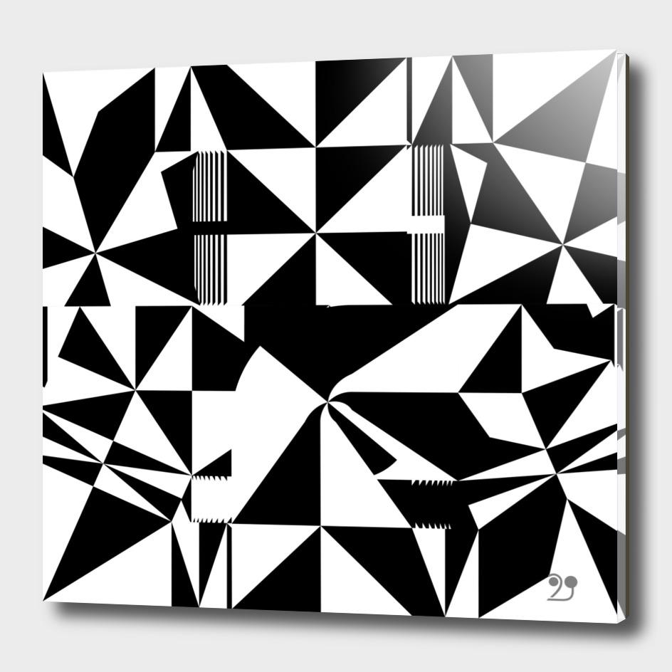 black white geometric