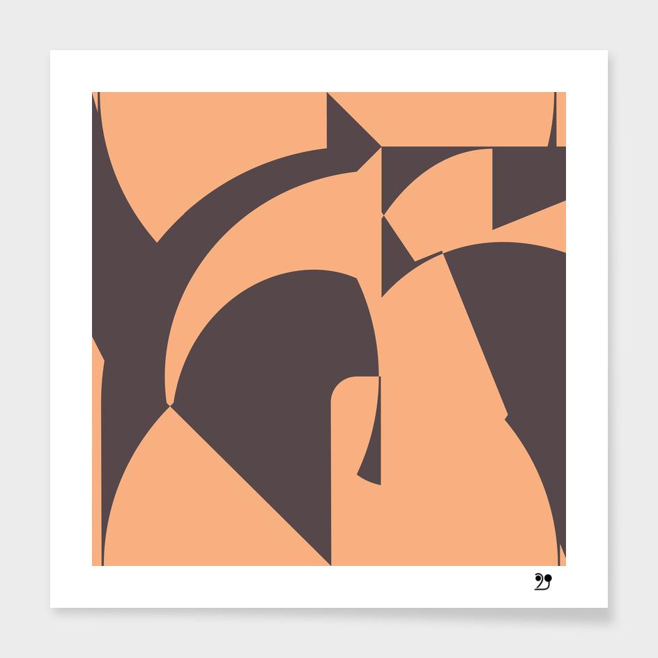 Pastel Mid century Geometric pattern paint