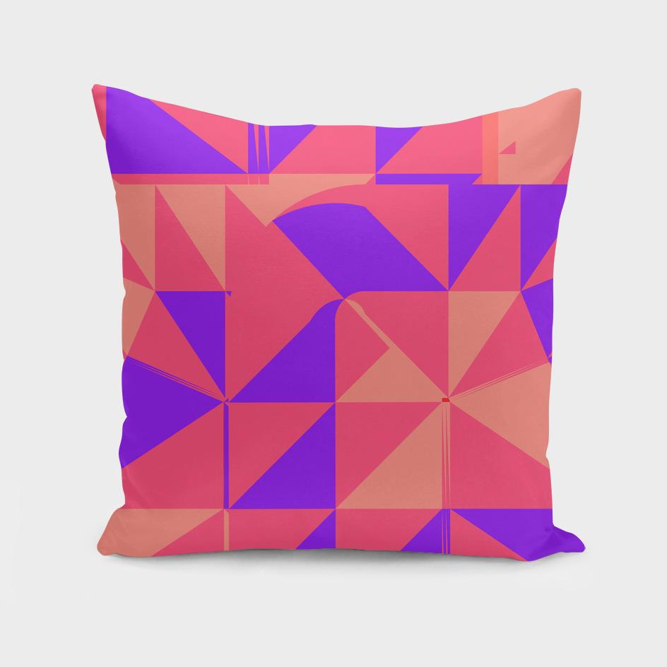Pink girl geometric
