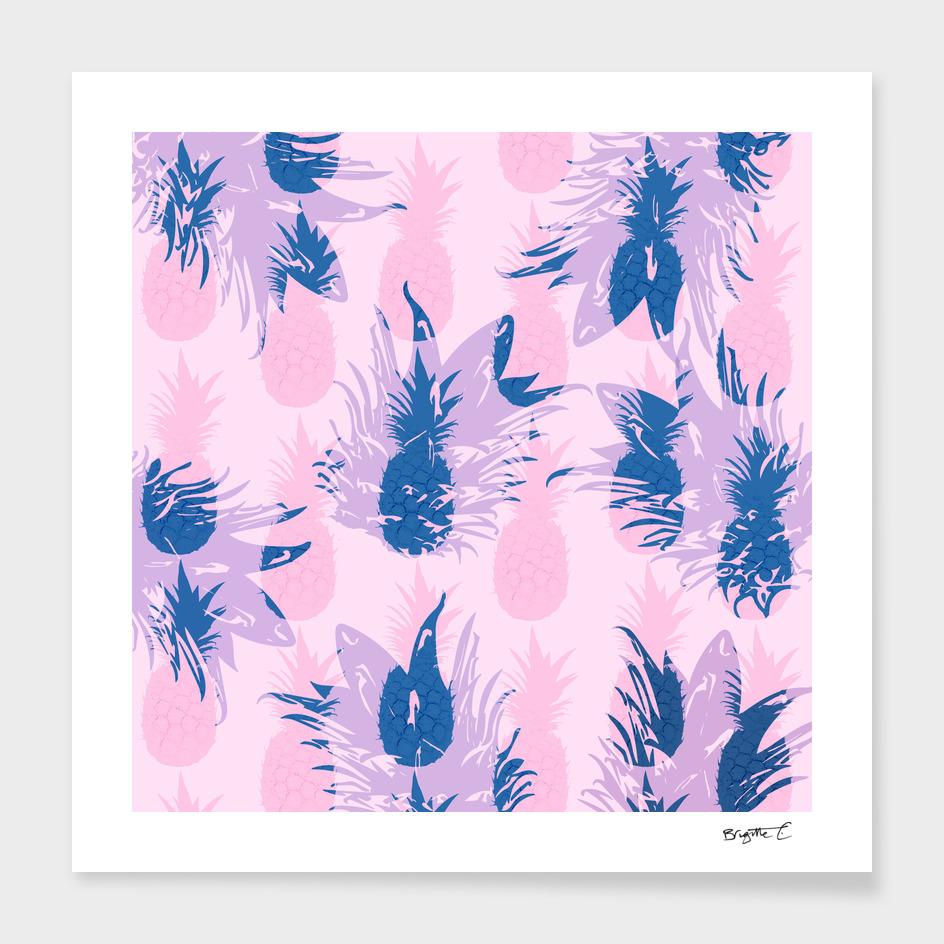 Hawaiian Pineapple Tropical Beach Pattern