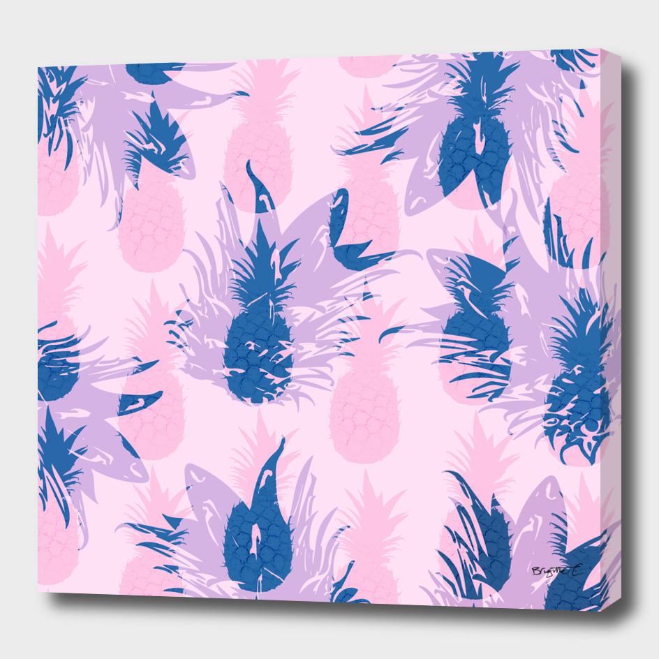 Hawaiian Pineapple Tropical Beach Pattern