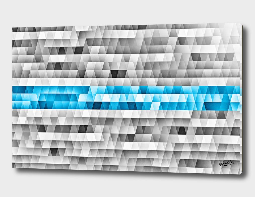 Blue stripe geometric