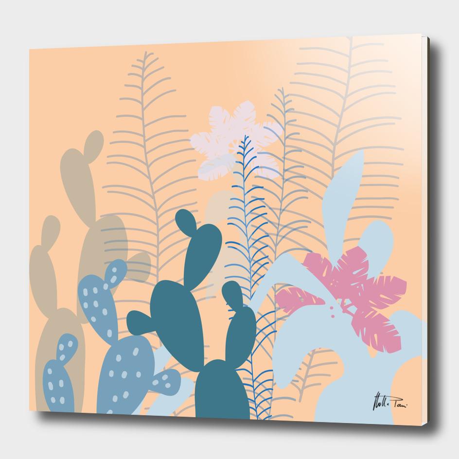 Blue Cacti Garden
