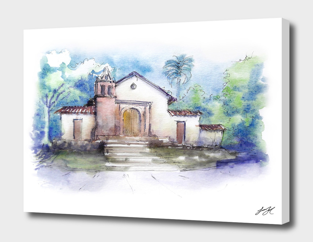 Watercolor San Antonio Cal
