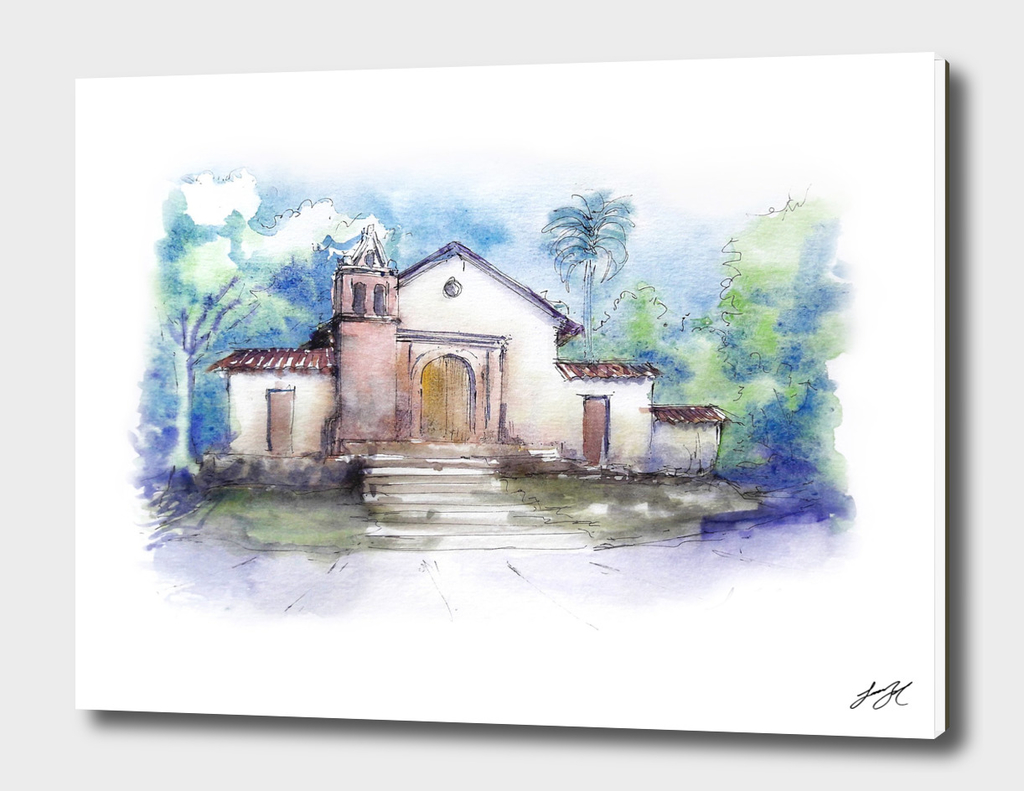 Watercolor San Antonio Cal