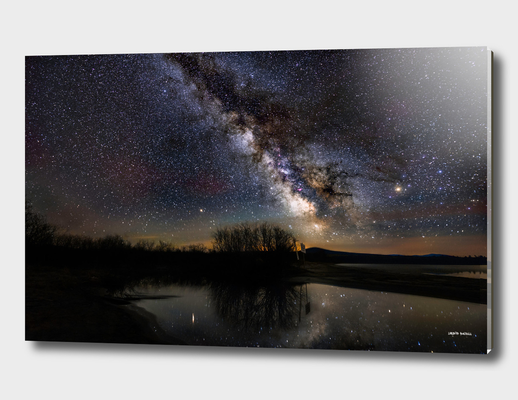 Milky way over Lac-Mégantic