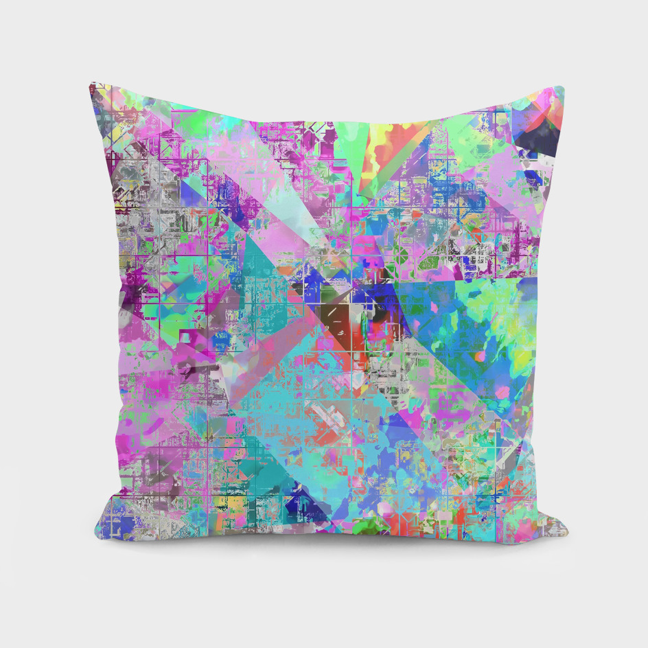 geometric triangle polygon pattern abstract in pink blue