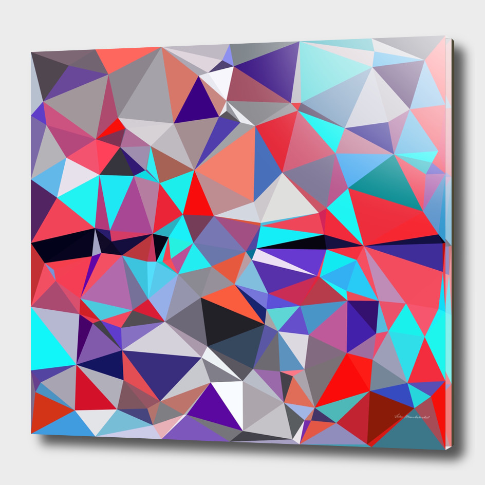 geometric triangle polygon pattern abstract in red purple